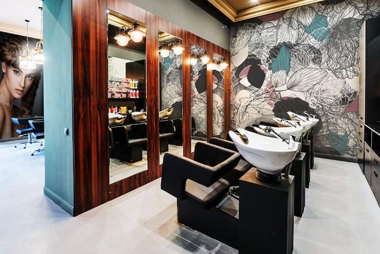 Fototapeta z kwiatami do salonu fryzjerskiego