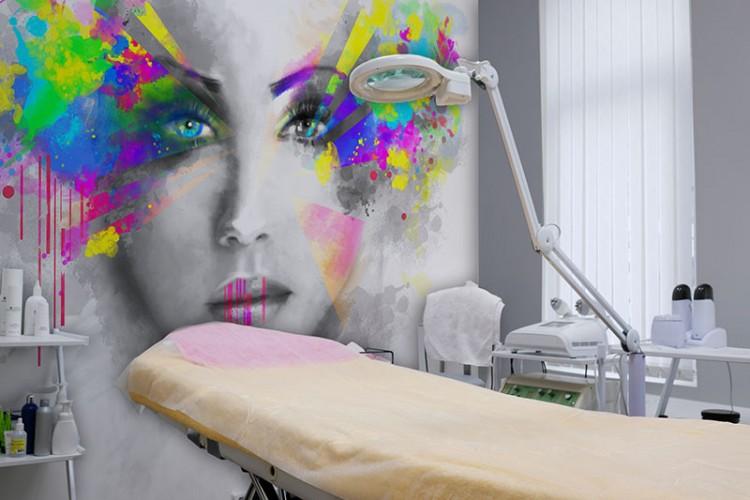 Fototapeta z twarzą kobiety do gabinetu kosmetycznego