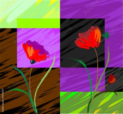 Obraz Digital   painting  of  plant and flower