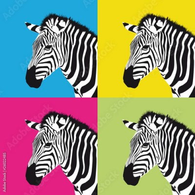 Obraz pop art zebra