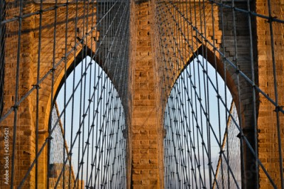 Fototapeta New York City - Brooklyn Bridge (Älteste Hängebrücke der USA)