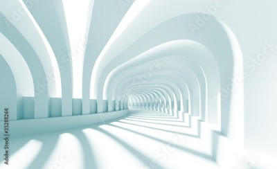 Naklejka 3d Illustration of Blue Abstract Architecture Background