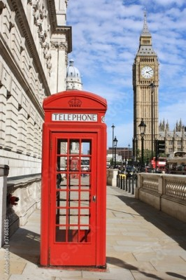 Fototapeta London Red Telephone Booth