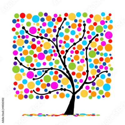 Fototapeta Abstract funny tree for your design