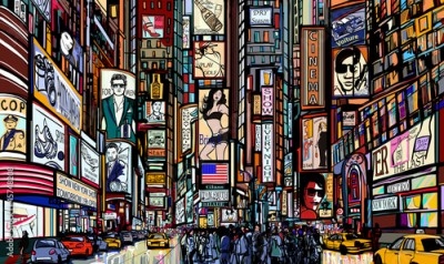 Fototapeta street in New York city