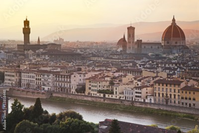 Fototapeta Florence skyline at sunrise, Italy