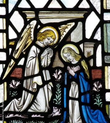 Naklejka Annunciation: Mary and gabriel