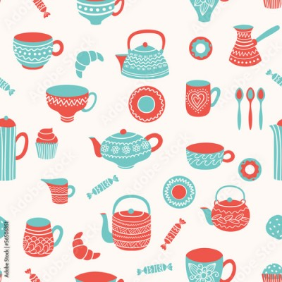 Obraz Tea seamless pattern
