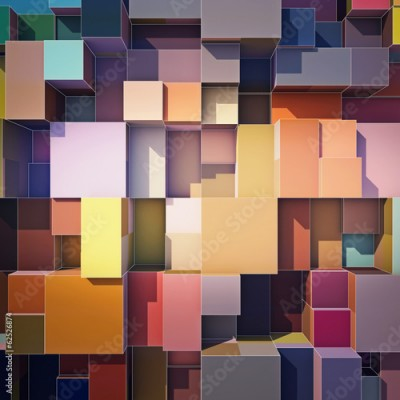Obraz na Plexi Cubes abstract background