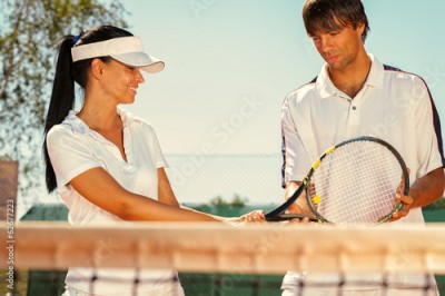 Obraz Couple of tennis players