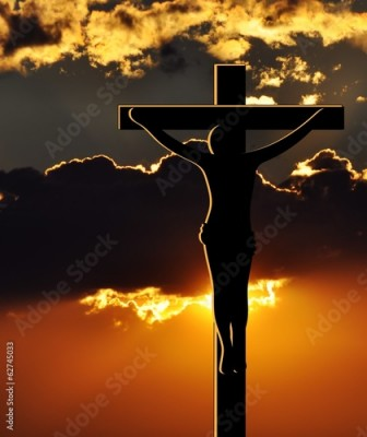 Plakat Crucifixion of Jesus Christ at Sunset