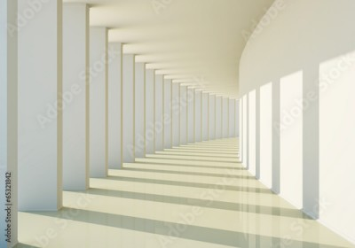 Fototapeta 3D abstract corridor