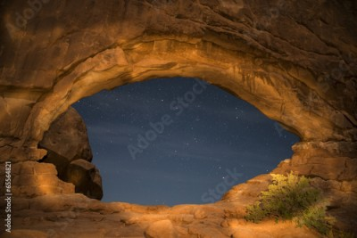 Plakat Windows Arches National Park at Night