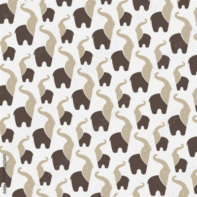 Fototapeta Seamless wallpaper elephant.