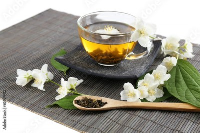 Obraz Jasmine tea on table