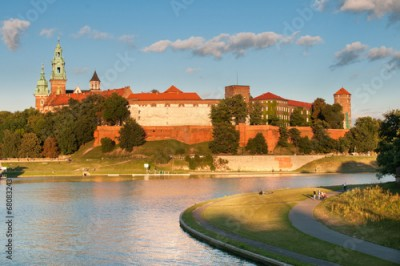 Fototapeta Vistula River before Wawel Royal Castle in Krakow