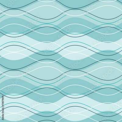 Fototapeta vector abstract seamless pattern blue wave