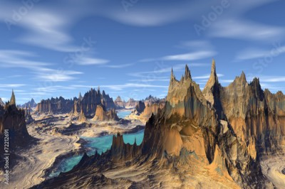 Plakat 3d rendered fantasy alien planet