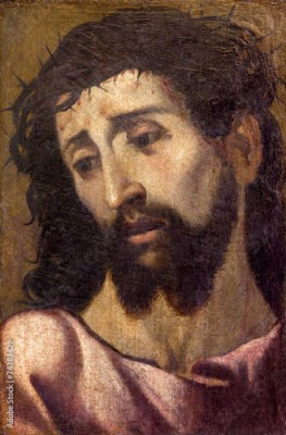 Plakat Seville - portrait of Jesus Christ with the crown of thons