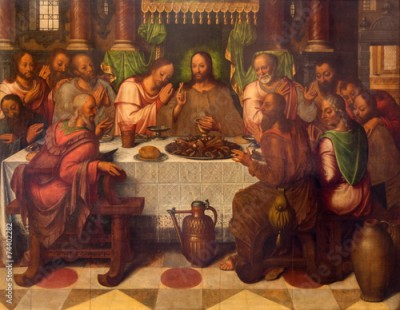 Plakat Bruges - The Last supper  in st. Giles church
