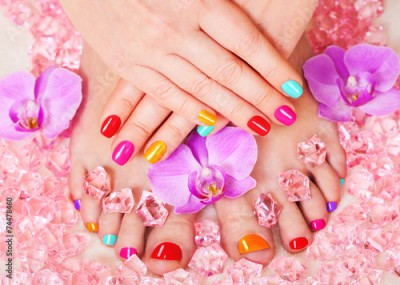 Obraz Beautiful manicure and pedicure