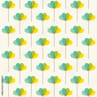 Fototapeta retro balloon pattern background vector