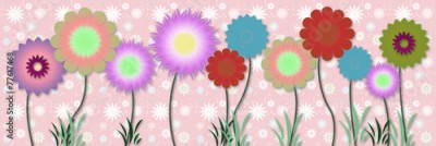 Obraz Beautiful floral spring design