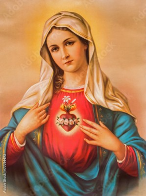 Plakat The Heart of Virgin Mary - typical catholic image