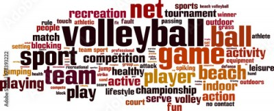 Obraz na płótnie Volleyball word cloud concept. Vector illustration