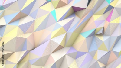 Fototapeta Pastel abstract triangles poly colors geometric background