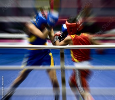 Fototapeta Boxing on a ring
