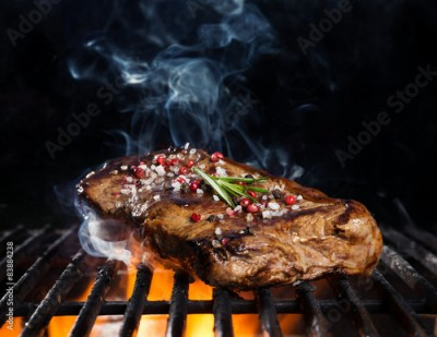 Fototapeta Beef steak on grill