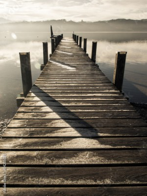 Obraz na Szkle wooden jetty (236)