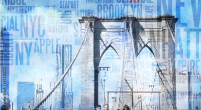 Fototapeta NY Brooklyn Bridge