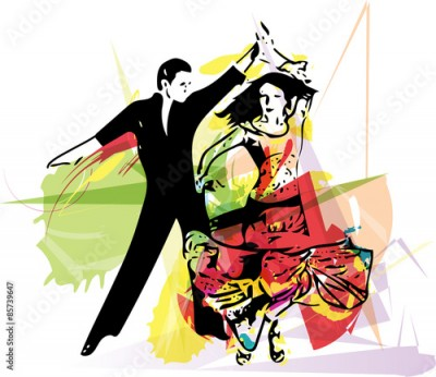 Fototapeta Latino Dancing couple