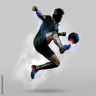 Fototapeta Soccer jumping touch ball 02