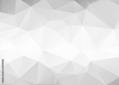 Fototapeta Vector abstract gray triangles background