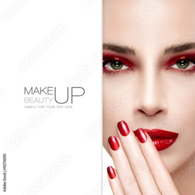 Obraz Beauty and Makeup concept. Fashion Nail Art