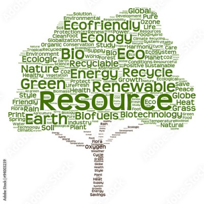 Obraz na Plexi Conceptual green ecology tree word cloud
