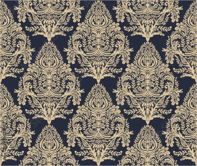 Fototapeta Wallpaper baroque seamless pattern.