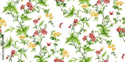 Panel Szklany Echo Floral Seamless Pattern
