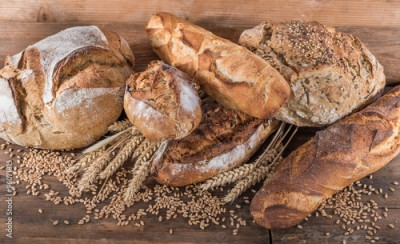 Obraz na Szkle Composition of various breads