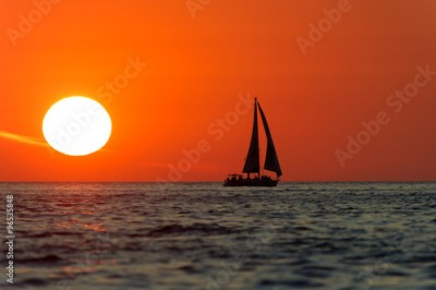 Obraz Sailboat Sunset