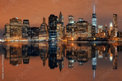 Fototapeta Manhattan at night