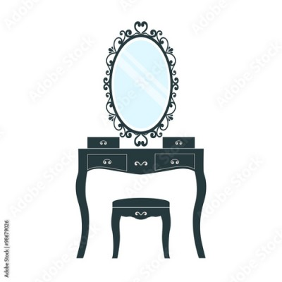 Naklejka dressing table on a white background