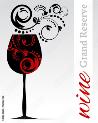 Obraz Wine Label - List