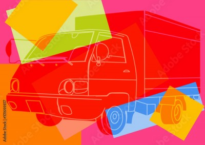 Obraz Camion pop art
