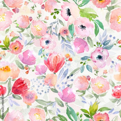 Obraz watercolor floral pattern
