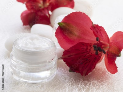 Obraz facial cream, cosmetics, fresh as flowers