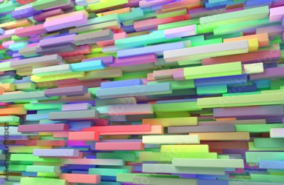 Naklejka Abstract background of colored many cubes
